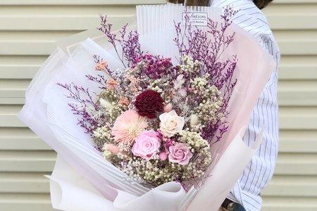 SSL韓式大型求婚花束-浪滿粉