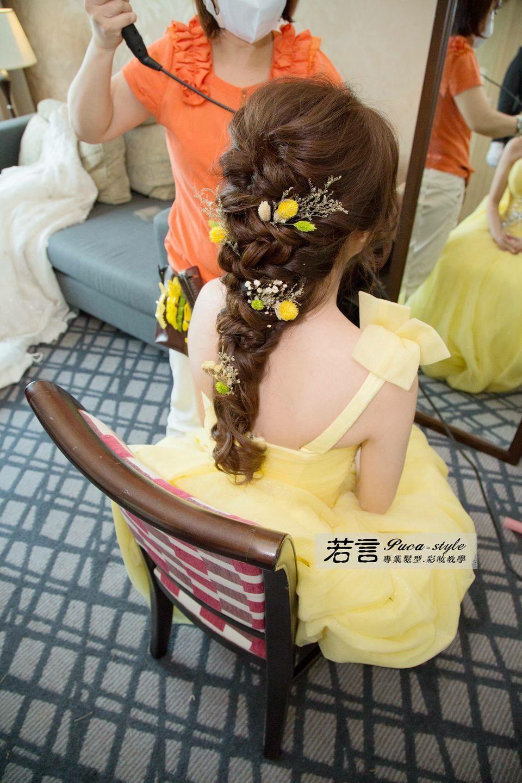 若言造型團隊,不用試粧髮也可以讓我超滿意?????