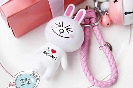 Pink粉紅盒兔兔鑰匙圈掛飾