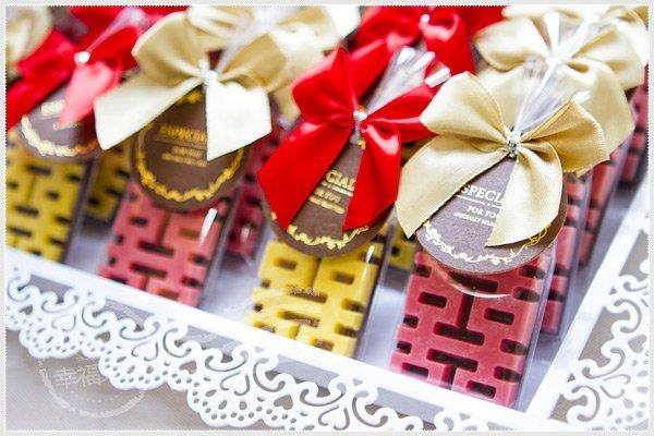 精緻吊牌單包裝「囍字巧克力」