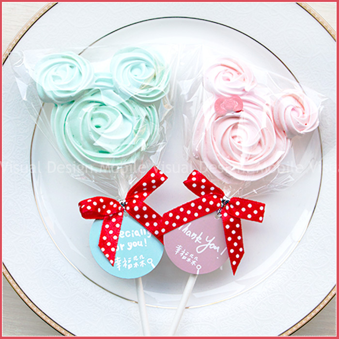 幸福朵朵婚禮小物-米奇米妮造型馬林糖