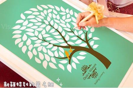 客製化簽名樹 簽名綢 簽到畫布 佈置物品 幸福朵朵婚禮小物