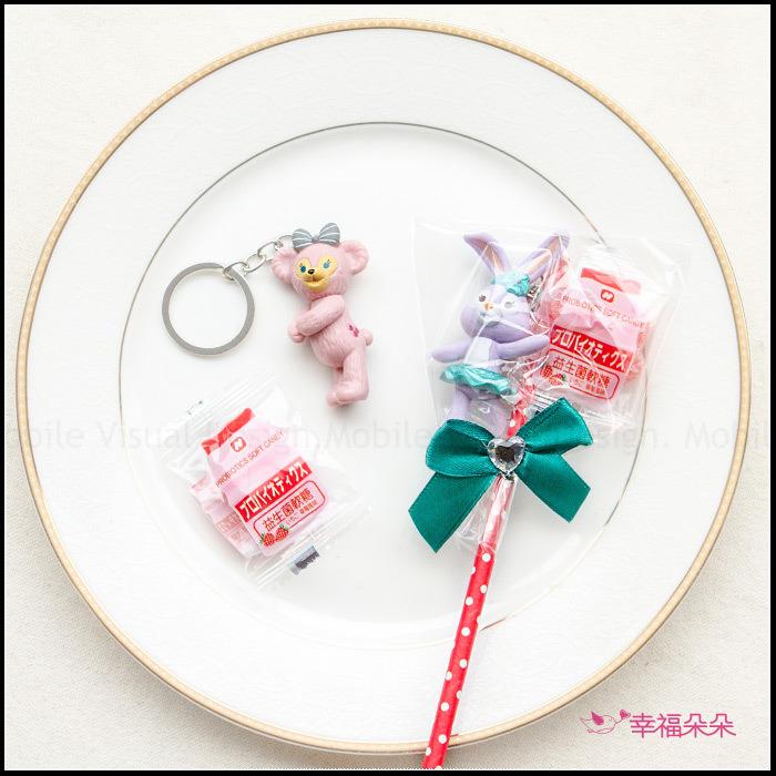 達菲雪莉玫史黛拉鑰匙圈+軟糖糖果棒-不挑