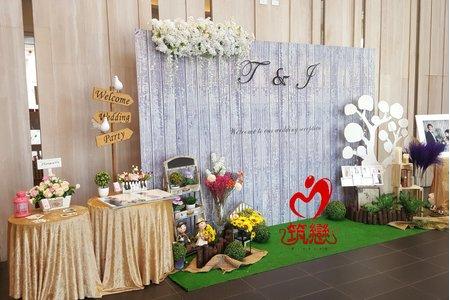婚禮佈置-旗艦立體背板與乾燥花鄉村背板