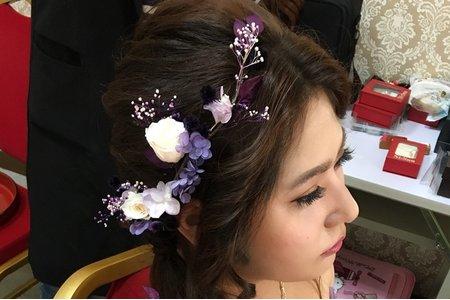 新娘秘書-恬靜 🌸清新 🌸美  ✨低盤髮,自然的清透妝感