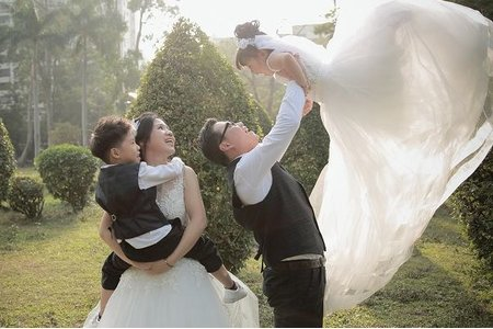 婚照 全家福