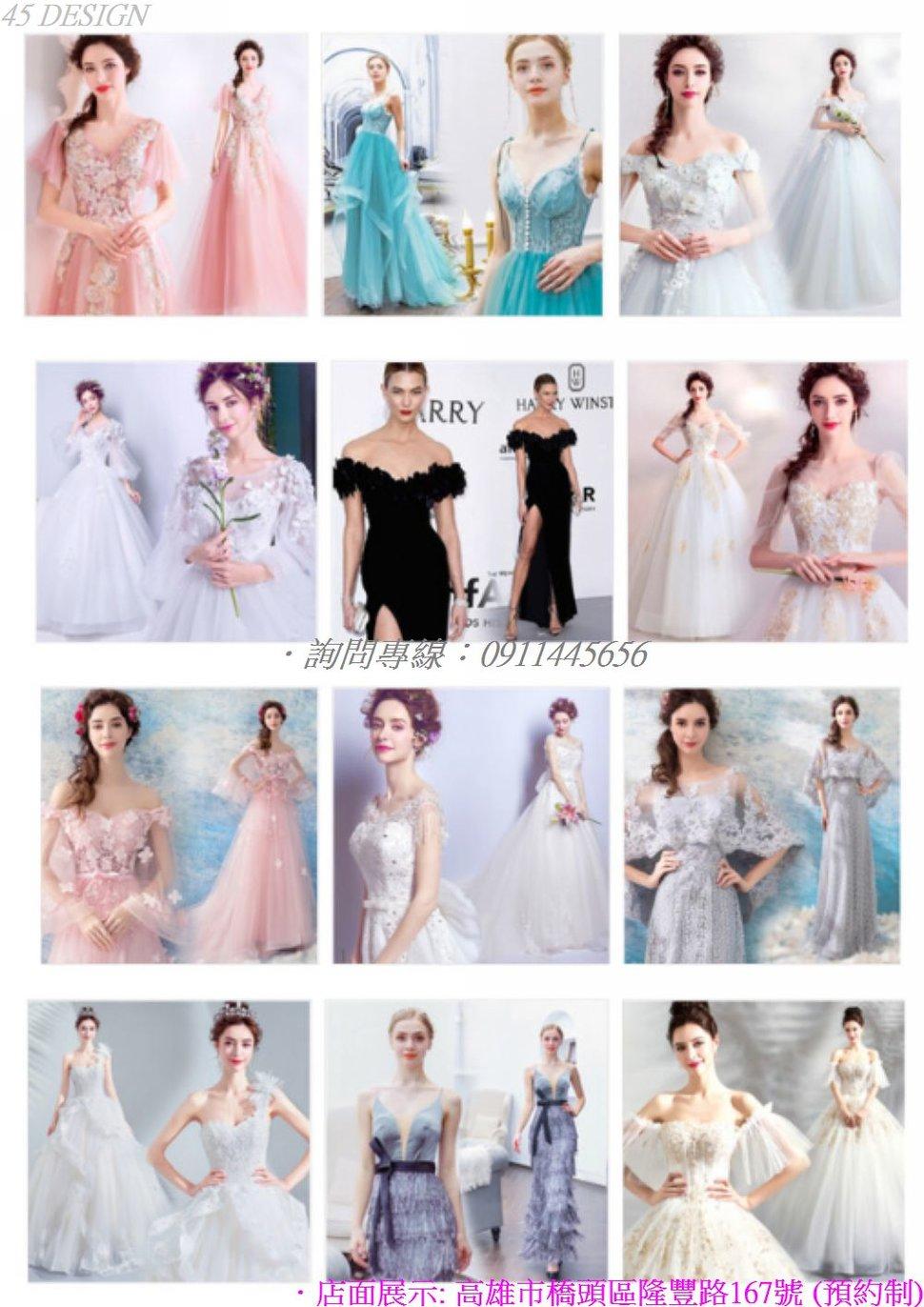 msl190815EDDA57D714204054B6BAE5DF7B4201A2 - 全台最便宜-45DESIGN四五婚紗禮服《結婚吧》