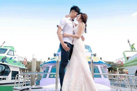 海邊  遊艇婚紗