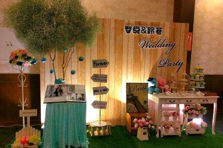 韓風 婚禮佈置 高雄 南區 禮桌 場地