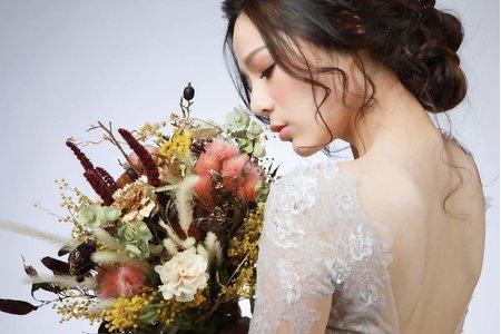 新娘捧花 婚紗外拍造型捧花 乾燥花 不凋