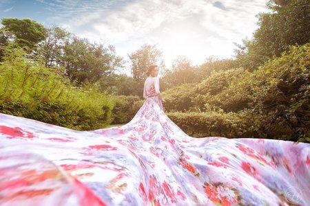 陽明山婚紗造型妝感