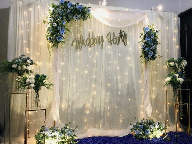 白色浪漫+歐式花藝拱門