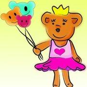 熊熊公主造型氣球!