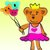 熊熊公主造型氣球
