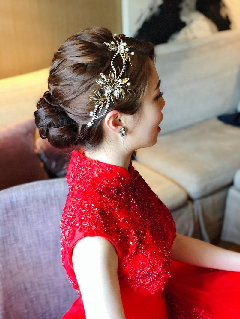 新秘,新娘造型,編髮,文定造型