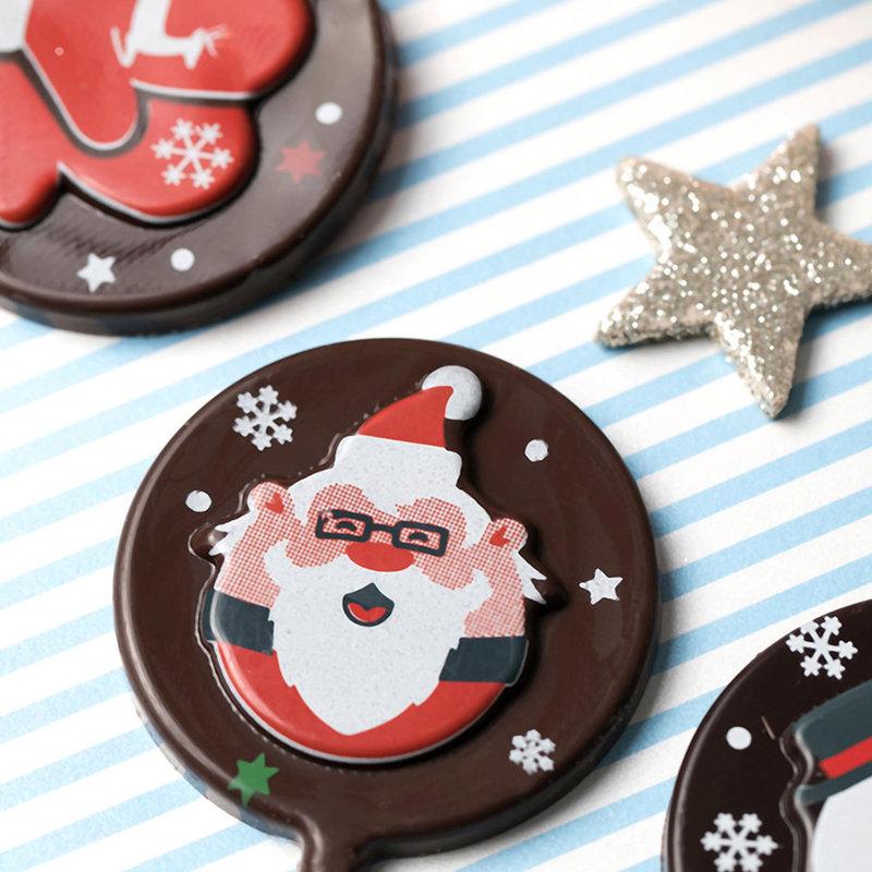 Tsum Tsum聖誕限定款巧克力棒棒糖作品