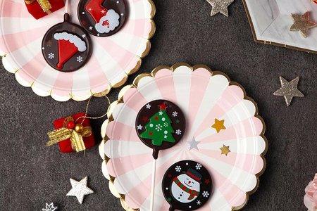 繽紛聖誕限定款巧克力棒棒糖