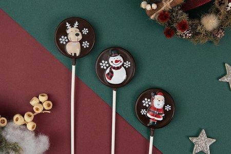 聖誕經典限定款巧克力棒棒糖-3款式