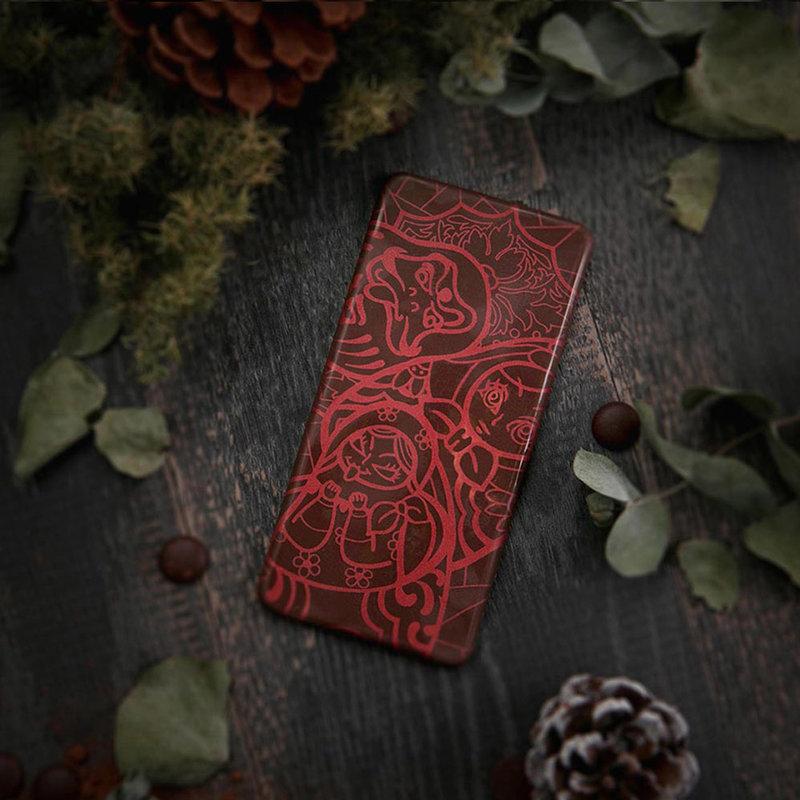 72%異國風情彩繪圖騰純脂巧克力