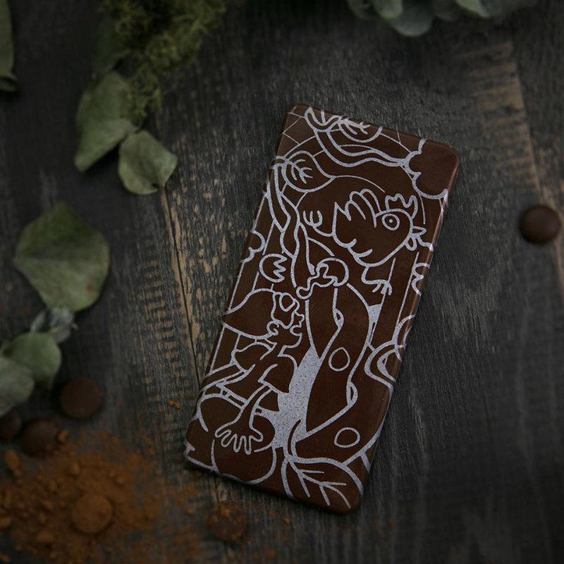 72%故事風彩繪圖騰純脂巧克力