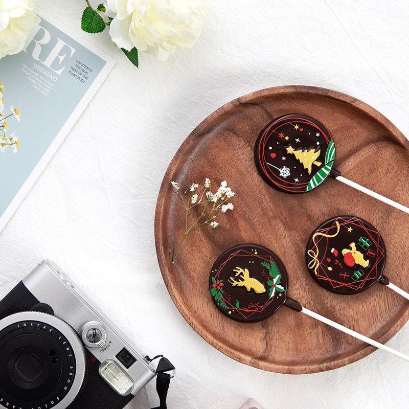 文青聖誕限定款巧克力棒棒糖作品