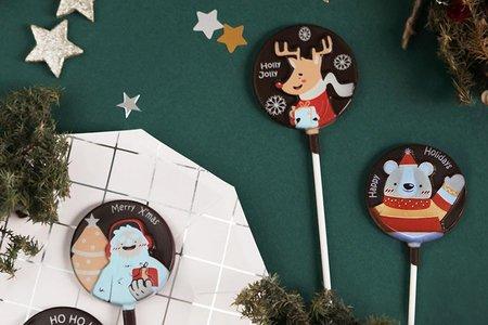 卡通聖誕經典限定款巧克力棒棒糖