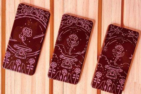 星空玫瑰彩繪巧克力