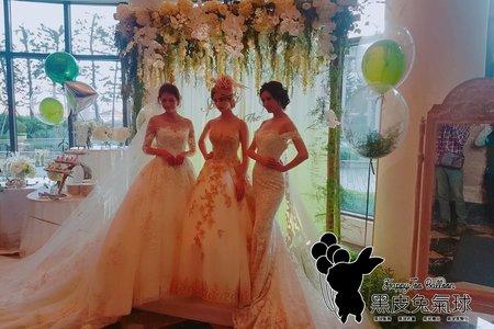 義大蘿蔓朵手工婚紗秀佈置