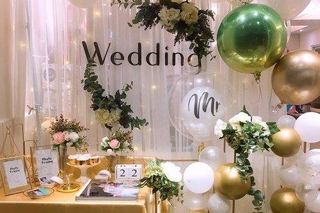 婚禮拍照區佈置