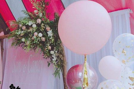 大社保元宮-Miss蕾拉 婚禮佈置x黑皮兔氣球