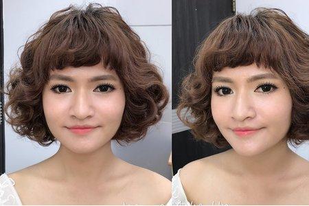 107.06.02 素人彩妝造型/短髪新娘造型