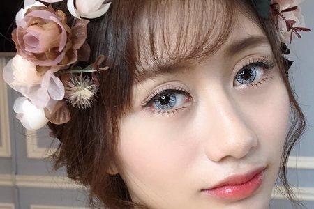 107/06/16 素人彩妝造型/新娘仙氣造型