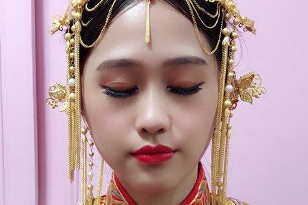 嵐Wing Makeup<噴槍底妝>-婚禮儀式現場秀禾服造型