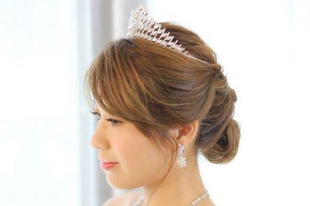 嵐Wing Makeup<噴槍底妝>-盤髮與髮飾搭配造型