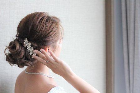 嵐Wing Makeup<噴槍底妝>-氣質盤髮造型