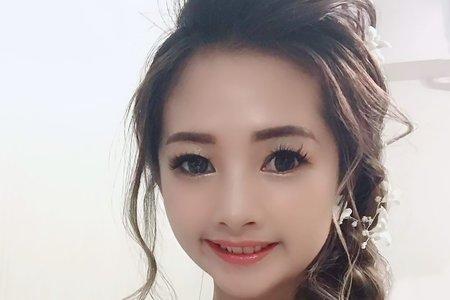 嵐Wing Makeup<噴槍底妝>-側邊編髮仙仙風