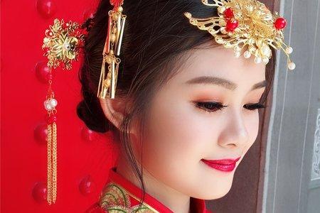 嵐Wing Makeup<噴槍底妝>-古典龍鳳掛造型