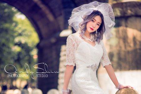 嵐Wing Makeup<噴槍底妝>英倫風復古婚紗