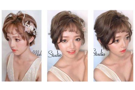 仙氣短髮新娘