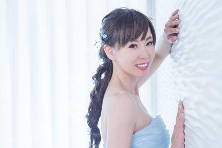 黎兒新娘秘書 噴槍彩妝 - 不凋花浪漫編髮