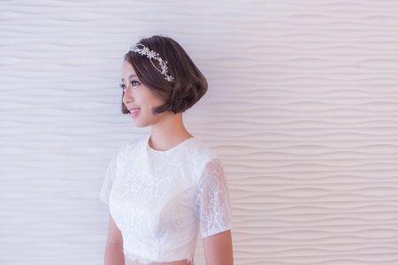 黎兒新娘秘書 噴槍彩妝 - 極短髮甜美造型