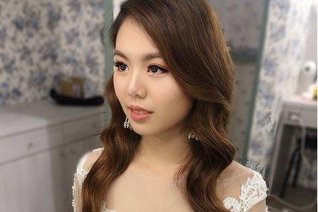 黎兒新娘秘書 噴槍彩妝 - 浪漫人魚捲髮 精緻眼妝
