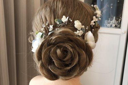 黎兒新娘秘書 噴槍彩妝-精緻玫瑰花造型