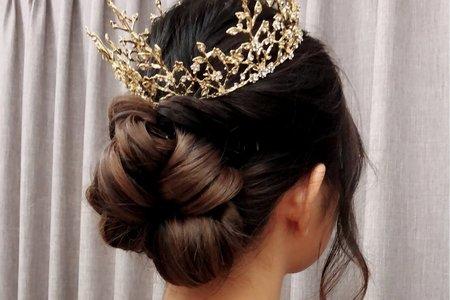 黎兒新娘秘書 噴槍彩妝 優雅氣質低盤髮