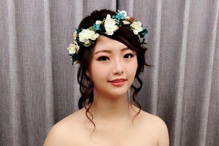 黎兒新娘秘書 噴槍底妝-內雙眼、浪漫不凋花森林風 精緻眼妝