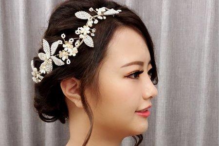 黎兒新娘秘書 噴槍底妝-氣質側邊低盤髮