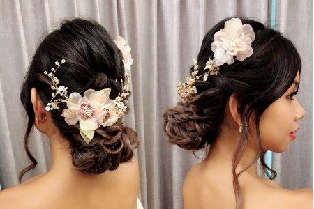 黎兒新娘秘書 噴槍底妝-氣質低盤髮