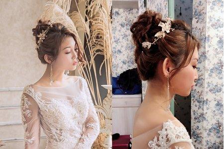 黎兒新娘秘書 噴槍彩妝 - 貴氣高雅包頭