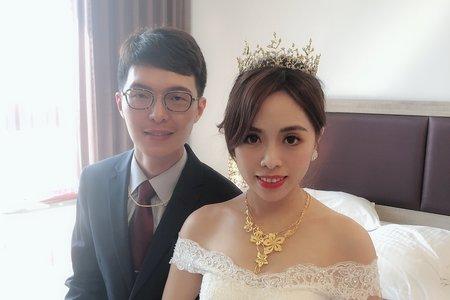 黎兒新娘秘書 噴槍底妝 氣質新娘白紗 結婚造型