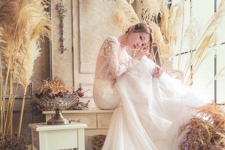 黎兒新娘秘書 噴槍彩妝-花系列側編髮